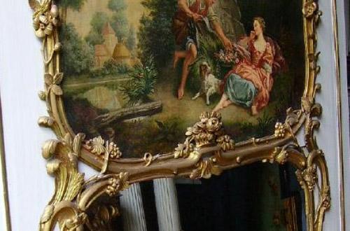 miroir origine du trumeau ancien anticstore le blog antiquit s et objets d 39 art. Black Bedroom Furniture Sets. Home Design Ideas